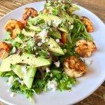 Blackened Shrimp, Hothouse Cucumber, Wild Arugula with Habanero Vinaigrette
