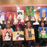 Paint Your Pet is always a fun & fave paint class!