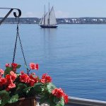 View of Bluenose II from the deck of the Captains Quarters Suite