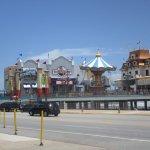 Bubba Gump Shrimp Co at front of Galveston Pleasure Pier