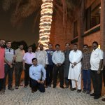 Outside The Village Restaurant with my colleagues for farewell of AbdulNasir.