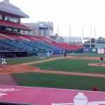 The view my friend and I enjoyed of the Bisons/Red Wings double-header.