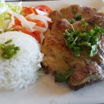 Grilled pork rice plate