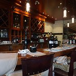 A warm interior with great wines...