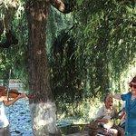 Folk musicians and dancing