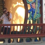 Musicians find little nooks in which to play