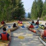 Pre kayak briefing