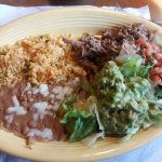 Pork-carnitas with rice and beans