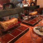 2 raclette melting magic machines - served 6 of us easily - although we had an appetizer beforeh