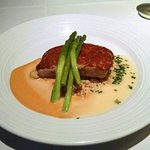 """Macadamia Nut Crusted Monchong """"Kona Cold"""" Lobster Sauce - tender, flakey and delicious."""