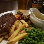 Sirloin steak and chips: part of the meal deal but you have to pay 99p for that Bearnaise sauce