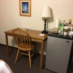 Refrigerator & Desk in Our Room