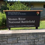 Sign at Stones River Battlefield Visitor Center