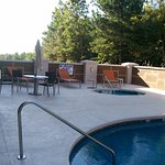 The Outdoor Pool Area and the Patio Seating