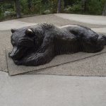 ALASKA - DENALI – MAIN VISITOR CENTER #4 – BEAR SCULPTURE OUTSIDE