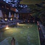 Candlelit pool.
