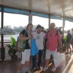 embarcadaire avec client à Chau Doc