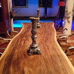 One piece wood dining table