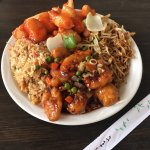 Delicious  Spicy mandarin and sweet and sour chicken