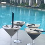Cocktails, happy hour on the lagoon!