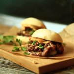 Steamed bao buns with bulgogi beef