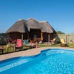 swimming pool and lapa. Built-in braai area