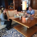 Raffy, Concierge in the Club Lounge taking time to chat with us