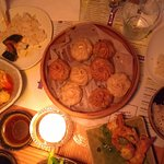 Diner for four; dumplings and wontons