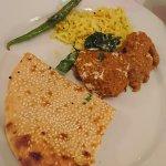 Peshwari naa, fish curry and rice