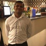 Our cheerful, helpful waiter
