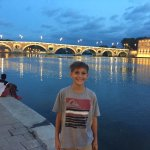 Tommy on the banks of the Garonne in Toulouse