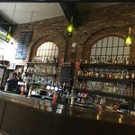 Fine looking bar..original brickwork or not? We couldn't quite be sure...Great interior look at