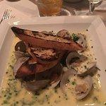 Fresh clams in a cream sauce.