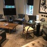 Lounge area in junior suite (room 117)
