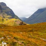 Typical highland view in Glen Coe area.