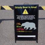 Warnschilder gab es viele, Bären keine zu sehen