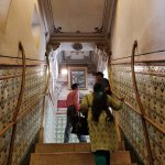 Beautifully clad narrow stairs