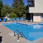 Outdoor seasonally heated pool