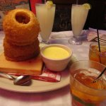 Super onion rings with awesome sauce