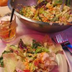 Connie & I had huge salads for dinner.