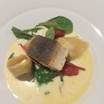 Halibut with Lobster Tortellini
