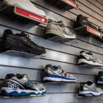 Huge selection of running shoes and socks. All of their shoes are podiatrist approves.