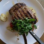 Superb 20oz steak cooked in a wood fired oven!
