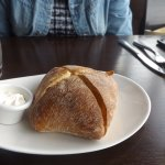 Warm sour dough bread and butter (best part of the meal)