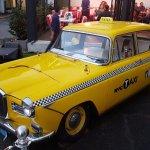 Engelsk 1959 Wolseley 16/60 med New York-taxidekor