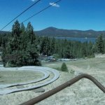 Big Bear Lake and Alpine Slide Bobsled Track Hill (Go Pro)