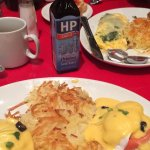 Eggs benny at the AMERICA in Vegas at the NYNY Hotel Casino