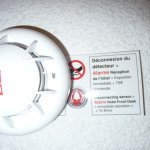 smoke detector with eviction threat