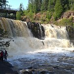 Gooseberry Falls (about 40 miles up the North Shore of Lake Superior) -- beautiful, free park