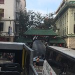 Drive by China Town gate.